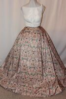 NWT Sherri Hill 51123 Ivory/Pink Print Size 12 two piece formal PROM gown