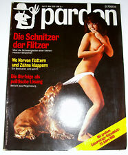 pardon 5 MAi 1974 Gerhard Zwerenz Alice Schwarzer André Heller Gilbert Shelton