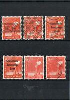 SBZ - Lot - 6 x 8 Pfennig Mi.- Nr. 184 - mit Aufdruck - Band u. Netzaufdruck