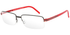 Porsche Design Eyeglasses 8216 Matte Gun Matte Dark Red Men's Frame P8216-A 56mm