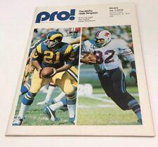1974 Pro Football Program Bears Vs Lions September 15 Unscored