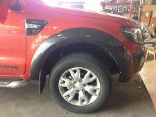 WILDTRAK GRAY FENDER FLARES WHEEL ARCH 4DOOR DOUBLE CAB FORD RANGER T6 2012-2014