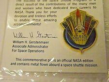 Space Flown Metal in Pin Commemorating Shuttle Program Unopened NASA Gift