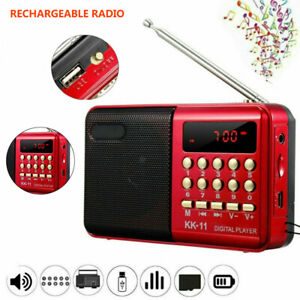 Rechargeable Digital Portable USB TF FM Radio Receiver Speaker MP3 Music Player