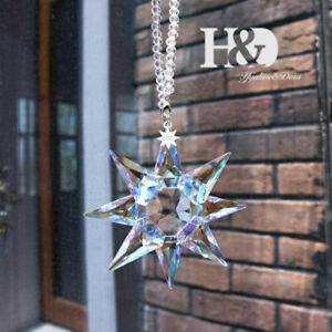 2020 Crystal Large Star Collectibles Holiday Ornament Hanging Pendant AB Coating