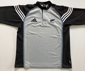 Adidas Vintage New Zealand All Blacks Rugby 2002 Away Shirt Jersey