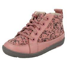 Scarpe rosa in camoscio con lacci per bambine dai 2 ai 16 anni