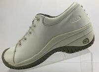 Keen Work Safety Shoes White Leather Casual Slip Resistant Comfort Womens Sz 9.5