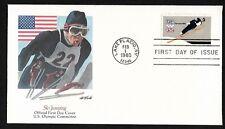 #1797 15c Ski Jumper - 13th Winter Olympic Games - Lake Placid - Fleetwood FDC