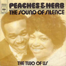 "PEACHES & HERB ‎– The Sound Of Silence (1971 VINYL SINGLE 7"" DUTCH PS)"
