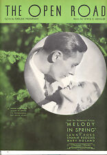 "Melody In Spring Sheet Music ""The Open Road"" Ann Sothern Lanny Ross"