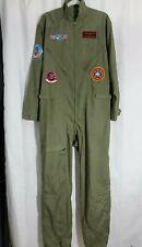 Top Gun Goose Flight Suit Uniform Costume Pilot M/L Tom Cruise