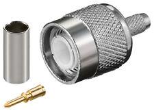 TNC -Crimp-Stecker mit Gold Pin für RG 58 Kabel