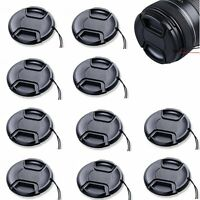 10PCS 77mm 77 mm Center Pinch Snap on Front Lens Cap for Canon Nikon Sony filter