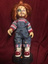 Gemmy Animated Chucky Figure Mouth Head Move Sound Vintage Works Childs Play Nr