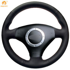 Mewant Black Leather Steering Wheel Cover for Audi TT 1999-2005 A3 2000-2003