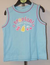 Girls - blue tropical  t shirt  - age 4 - 5 years - new without tags
