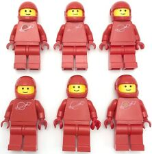 LEGO LOT OF RED VINTAGE SPACE MINIFIGURES WITH MOON LOGO FIGURES
