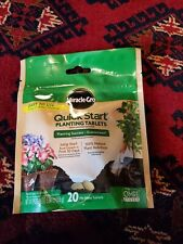 *NEW* Miracle Gro Quick Start Planting Tablets - Comes With 20 No Mess Tablets
