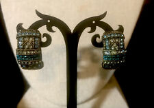 "Heidi Daus ""Everyday Elegance"" Crystal Earrings Aqua Nwt"