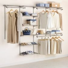 Walk In Closet Organizer Clothes Wardrobe System Configuration Shelf Storage New