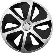 "Set di 4 14 ""UNIVERSALE WHEEL TRIMS copertura, Cerchioni, MOZZO, Tappi Per Adattarsi Smart + REGALO #E"