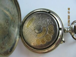ANTIQUE POCKET WATCH 8 DAYS FOR PARTS