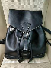 Dooney & Bourke USA Vintage Women Backpack Shoulder Leather Bag Black Drawstring