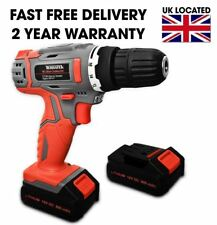 18V DIY LITHIUM-ION CORDLESS COMBI POWER DRILL 2 BATTERIES DRIVER WITH 13PCS KIT