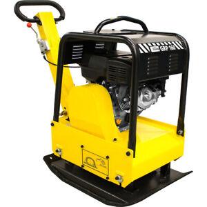 Güde Rüttelplatte GRP 160 4-Takt Benzin mit 6,5 kW Motor Verdichter + Gummimatte