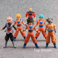 6X Dragon Ball Z Super Saiyan Gokou Black Son Goku PVC Action Figure Toy 7in BIG