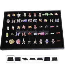 Dispaly TrayWood Velvet Cufflink Ring Display Storage Tray Box Case Retail Gift