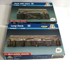 2 x ITALERI MODELLBAUSATZ LONG DOCK + DOCK WITH STAIRS - 5615 5612 - 1:35 je OVP