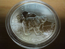 2011 Canadian Silver Grizzly $5.00 Coin