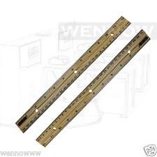 """2 Pcs 12"""" Inch (30 cm) Metal Edge Wood Ruler"""