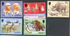 Jersey-Prehistory-mnh set-Early Man-Animals