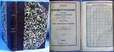 Tables Logarithmes & Tables Astronomiques et Nautiques / Caillet / Édition 1878