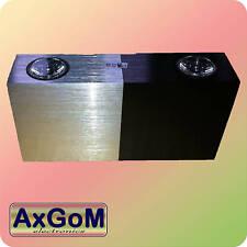 Design Wandlampe LED 2x1 Watt -Aluminium silber/schwarz