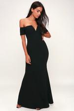 LULUS - Lynne Black Off The Shoulder Maxi Dress Revolve ASOS - S NWT