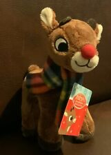"Rudolph The Red Nosed Reindeer Rudolph Plush Doll 7"" New Free Ship"