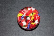 """Vintage Millefiori Art Glass Mini Paperweight Red White Blue Peppermint Canes 2"""""""