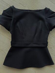 SAFIYAA Black Crepe Top Size 10