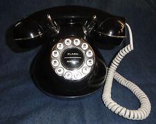Black 50'S Monster Phone Retro Looking Push Button Phone