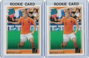 2018 -19 Donruss Rated Rookie RC  #195 Matthijs De Ligt Netherland