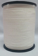 """Solid Braid Rope (#5)  5/32"""" x 1000ft  White Utility Cord"""