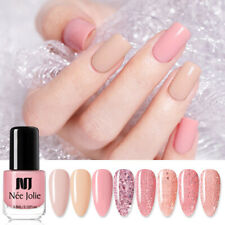 NEE JOLIE Glitter Sequin Nail Polish Pink Rose Gold Colorful Nail Art Varnish