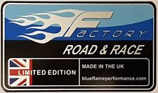 Blueflame Factory Exhaust Silencer Label Sticker    Genuine Blueflame