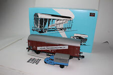 MARKLIN TRAINS #1 GAUGE #58364 MUSEUMSWAGEN 2009 BOXCAR & TRUCK, NEW IN BOX