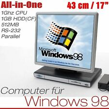 """Monoblock Pc 17 """" Monitor for Msdos Windows 95 98 1ghz 512mb 1gb Rs232 Paralel"""