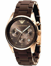 Emporio Armani Sportivo Watch Rose Gold/Brown Quartz Watch AR5891